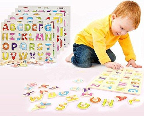 木製 型はめパズル アルファベットと数字のセット 知育に最適!...