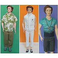 hellojoy Lot 3 pcsファッションハンドメイドKen人形Clothes Xmasギフト