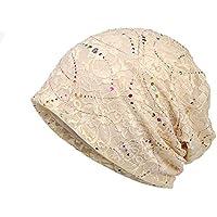 LOLONG 抗がん剤 オーガニック 夏用医療用帽子 レース ケア帽子
