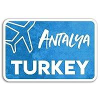 2×10センチメートルアンタルヤビニールステッカー - トルコ旅行ステッカーノートパソコンの荷物の#18010(10センチメートルワイド)