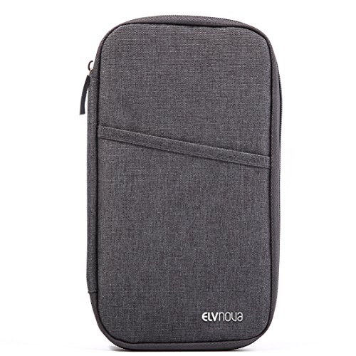 ELVNOVA パスポートケース 航空券 チケットケース マルチケース トラベルポーチ パスポート 軽量 多機能 大容量 旅行グッズ (ブルー)