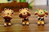 Use+(ユーズプラス) 見ざる聞かざる言わざる 三体セット 樹脂工芸 三ざるシリーズ 「ライオン」