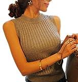 (シーデフ)cdef ( グレー ) レディース ノースリーブ ニット トップス セーター ハイネック タートル 薄手 リブ ぐれー GRAY ぐれい グレイ にっと きゃみ キャミ キャミソール きゃみそーる レディス れでぃす レディ 服 106 灰色