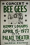Ron's Past and Present Bee Gee'S &Kenny Loggins 1977 St. Louis Concert Poster