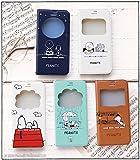 iPhone7 ケース スヌーピー 手帳型 窓付き キャラクター カバー カード収納 / チャーリー・ブラウン / ミント