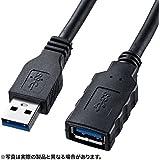 サンワサプライ USB3.0延長ケーブル ブラック 0.5m KU30-EN05