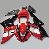 【PGMARO】バイク パーツ カウル YAMAHA 外装パーツセット 外装セット For Yamaha YZF R1 2000 2001 レッド