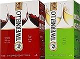 タヴェルネッロ ロッソ&ビアンコ イタリア セット(バッグ イン ボックス 赤ワイン3L+白ワイン3L)