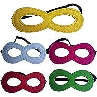 fashionclubsクリスマスパーティー子供用スーパーヒーローコスチュームマスクパックの11ランダム色