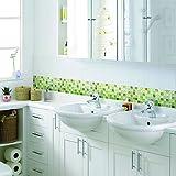 【 Dream Sticker 】モザイクタイルシール キッチン 洗面所 トイレの模様替えに最適のDIY 壁紙デコレーション ALT-3 グリーン Green 【 自作アートインテリア / ウォールステッカー 】貼り方説明書付属