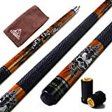 """Cuesoul Rockin Series 57"""" 21OZ Maple Pool Cue Stick Set With Joint Protector/Shaft Protector And Cue Towel G406"""