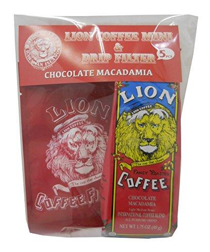ライオンコーヒー ライオンミニ&ドリップフィルターセット チョコマカダミア 5枚