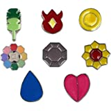 Pocket Monster Generation 1 Kanto Region Gym Badge Collection Box Set of 8PCS, Gift for Boy and Girls