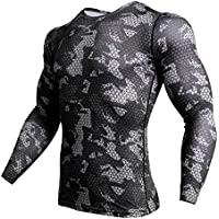 TIANYUTU Compression Sports Shirt Men Long Sleeve Camouflage Fitness 3D Quick Dry Men's Running T Shirt Gym Clothes Top