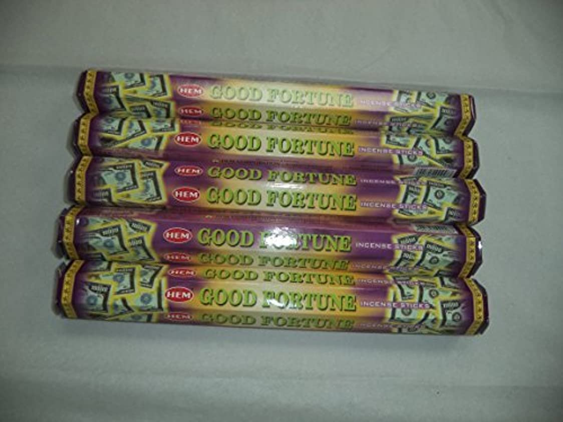 後退する修理工フラスコHem Good Fortune 100 Incense Sticks (5 x 20スティックパック) by裾