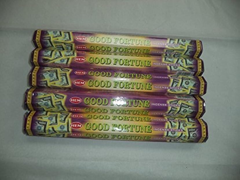 時間厳守患者アルファベットHem Good Fortune 100 Incense Sticks (5 x 20スティックパック) by裾