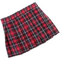 SONONIA  ファッション  チェック柄 プリーツ  ミニ スカート  ドレス   1/6スケール BJDドルフィー人形用