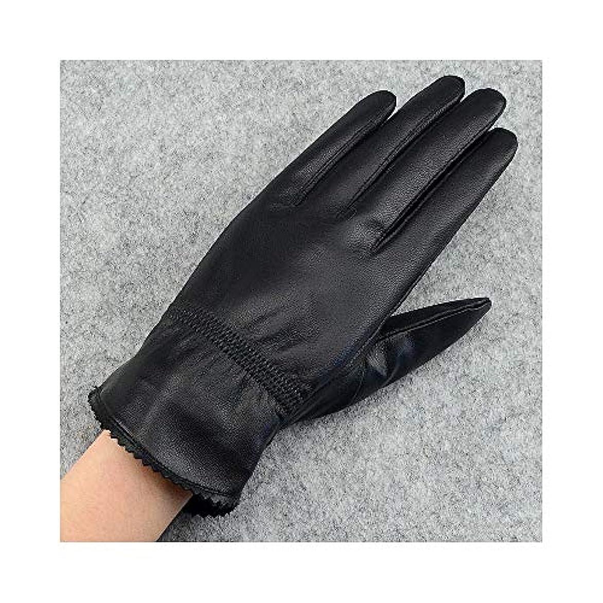 救急車津波毛布BAJIMI 手袋 グローブ レディース/メンズ ハンド ケア ファッション女性の革の手袋は、秋と冬の暖かい冬の乗馬用手袋を厚くする 裏起毛 おしゃれ 手触りが良い 運転 耐磨耗性 換気性