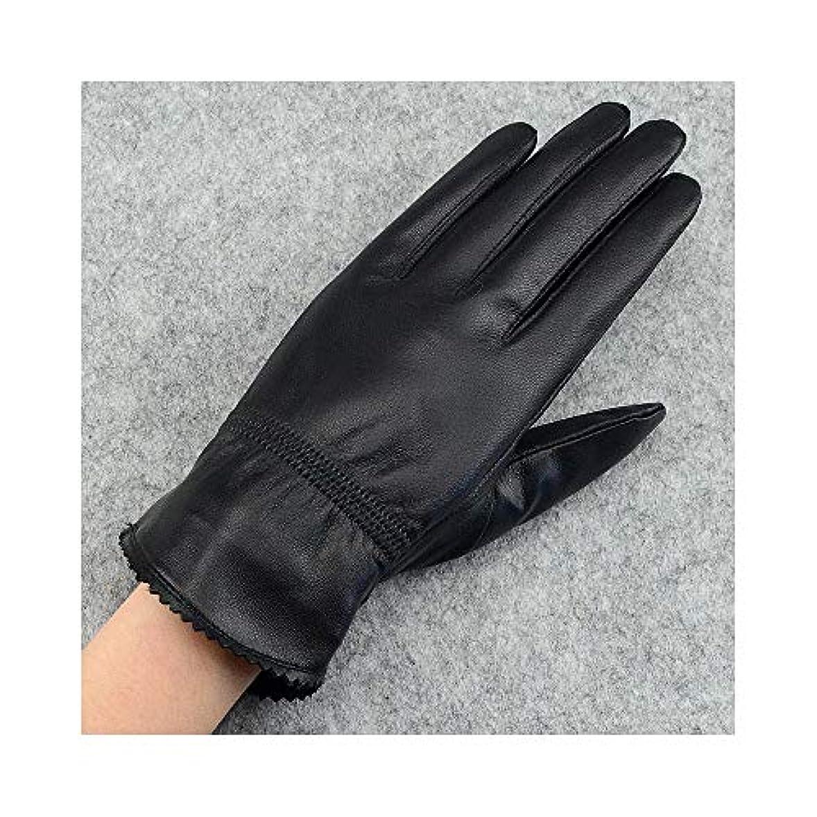 胚芽迷惑浮くBAJIMI 手袋 グローブ レディース/メンズ ハンド ケア ファッション女性の革の手袋は、秋と冬の暖かい冬の乗馬用手袋を厚くする 裏起毛 おしゃれ 手触りが良い 運転 耐磨耗性 換気性