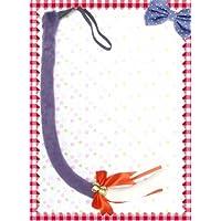 萌えグッズ かわいい リボン & 鈴付き 猫しっぽ 80センチ 紫×白 コスプレ