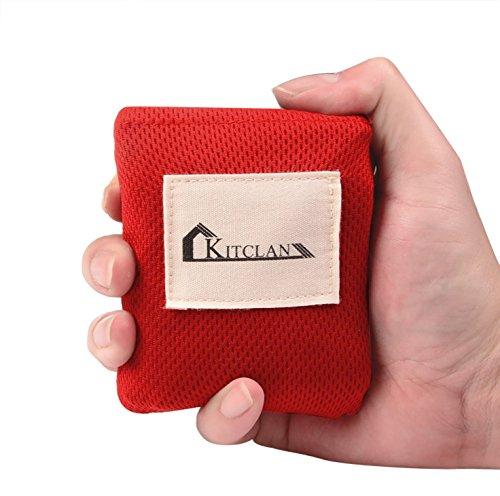 レジャーシート【120*160cm】 Kitclan ポケットブランケット 4人用 コンパクト 手のひらサイズ 撥水加工 水洗い可能 アウトドア 登山などに ブラック