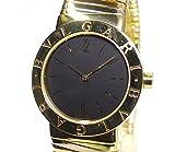 ブルガリ ブルガリブルガリ BB302T トゥボガス 3カラー 750 金無垢 ブラック文字盤 クォーツ お洒落なボーイズ腕時計 [中古]