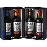 スコッチ ウイスキー バランタイン 17年 ディスティラリーコレクション 200ml×4本