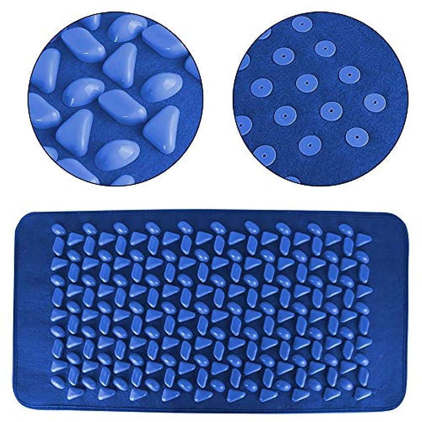 月曜雹ハードフットマッサージマット 石畳の形のフットマッサージパッドヨガマット、ウォーキングブランケットフィットネスマッサージパッド、足の痛みを軽減するためのマッサージマットストレス軽減