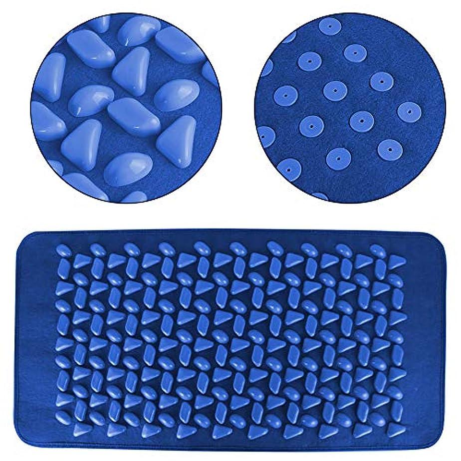 新着フィットネス読みやすいフットマッサージマット 石畳の形のフットマッサージパッドヨガマット、ウォーキングブランケットフィットネスマッサージパッド、足の痛みを軽減するためのマッサージマットストレス軽減
