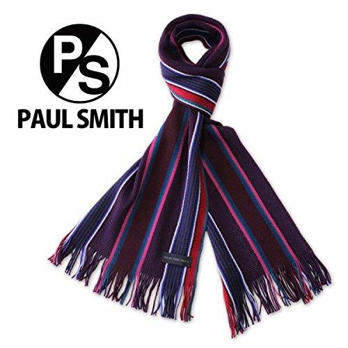 Paul Smith(ポール・スミス) マフラー ストライプ 誕生日 プレゼント (パープル系)
