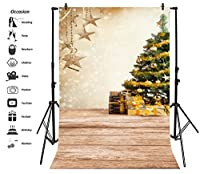 leyiyi 3x 5ft写真バックドロップMerry Christmas Background Luxry Blury Shining Spots Happy New Year Gifts Pine Nutsレッドベリーボールギフト雪だるまフォトPortraitビニールビデオStudio Prop