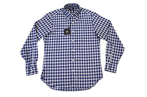 IKE BEHAR アイクベーハー モディファイドフィット長袖 オカナガン チェック B.D.シャツ 2014モデル S ブルー/グレー