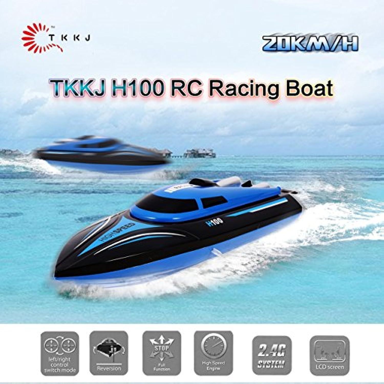 TKKJ H100 RCボート高速レーシングボート180°フリップRC電動玩具RTR