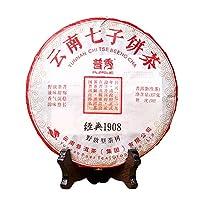 プーアル茶 中国茶 生茶 本場雲南普洱茶 七子餅茶 普秀 经典1908 2014年 357g