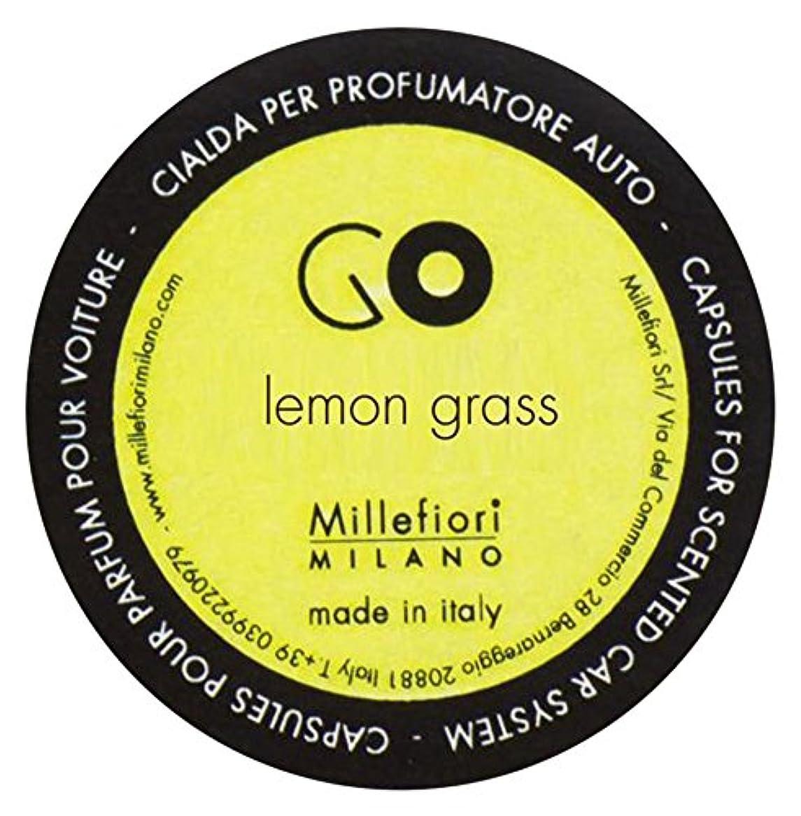 願望寛大な制裁Millefiori カーエアフレッシュナー GO レフィル レモングラス 1pcs RGLG