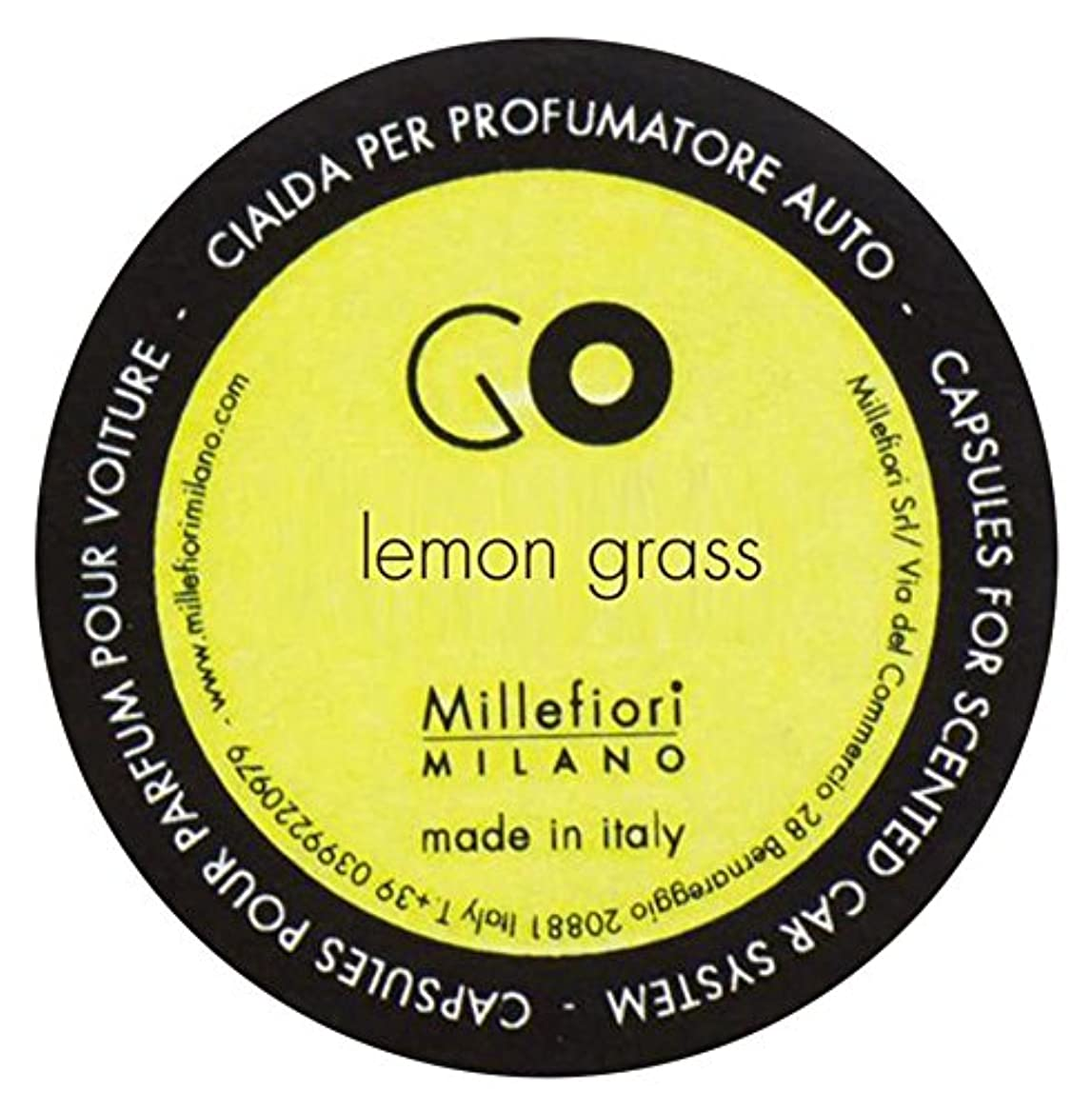 インフルエンザ火傷例外Millefiori カーエアフレッシュナー GO レフィル レモングラス 1pcs RGLG