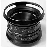Hengyijia(ヘンイージア) 25mm F1.8 (黒色)高画質マニュアルフォーカスマクロレンズ Fujifilm FXインタフェースのミラーレスカメラに適用する