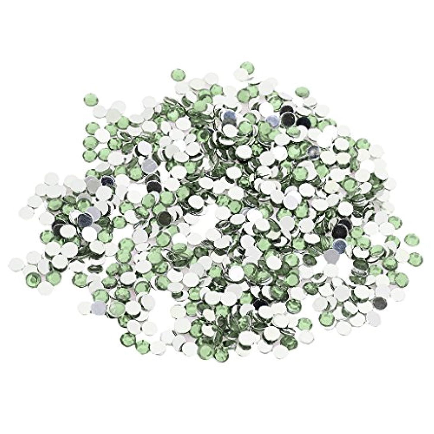 形容詞ガムからかう約2880個 .4mm ラインストーン 宝石 アクリル 結晶 ビーズ チャーム DIY 手芸用 ネイルクラフト 装飾 全5色選べる - 薄緑, 4ミリメートル