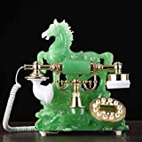 Wjvnbah Landline telephone Antique Telephone, High-end European Telephone Creative American Style Home Office 18x22x25cm (Color : #1)