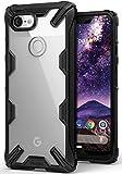 Google Pixel 3 XL ケース 対応 Ringke [Fusion-X] 落下衝撃吸収 ストラップホール TPU PC [米軍MIL規格取得] 二重構造 スマホケース 背面クリア (Black/ブラック)