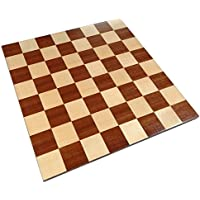 Zelus Borderless Tournament Chess Board with Inlaid Mahogany Wood - Board Only - 18 Inch