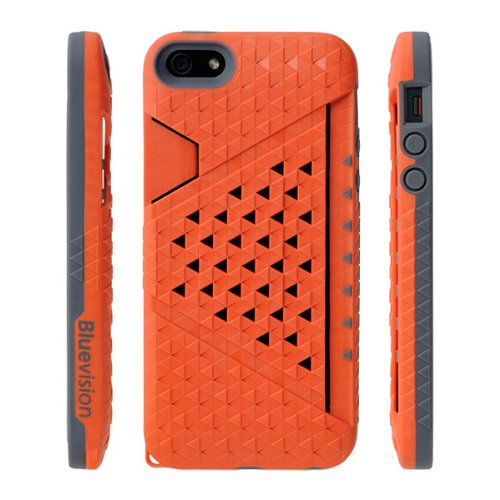 Bluevision iPhone 5s/5用ケース Kaleido Card Slot Case for iPhone 5s/5 Passion Orange パッションオレンジ BV-KALCSIP5-OR