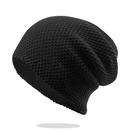 KUYIニットキャップ ニット帽 ワッチキャップ 帽子 ビーニー シンプル無地 男女兼用