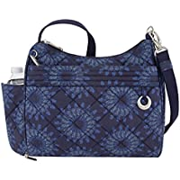 Travelon Women's Anti-Theft Boho Square Crossbody Cross Body Bag