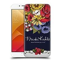 Official Frida Kahlo ブルーム レッド・フローラル ハードバックケース Zenfone 4 Selfie Pro ZD552KL