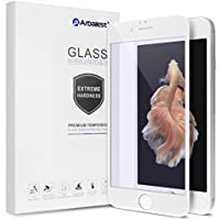 iPhone6s plus/6 plus フィルム Arbalest ブルーライトカット 3Dタッチ 3D曲面 薄型 日本板硝子ガラス 硬度9H 0.26mm PET ソフトフレーム 強化ガラスフィルム 全面 白