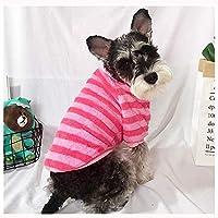 ペットの犬服ニット犬のセーターソフト肥厚暖かいスエットシャツ犬冬のセーター(4色) ペット用品 (色 : ピンク, サイズ : S)