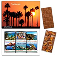 "DA CHOCOLATE キャンディ スーベニア ""カリフォルニア"" CALIFORNIA チョコレートセット 7,2×5,2一箱 (MILK Apricot Peanuts Cowberry)"