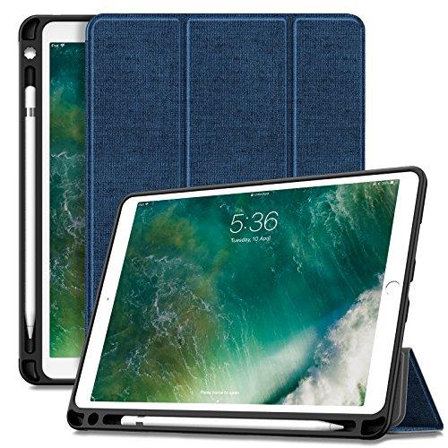 iPad Pro 10.5 ケース Infiland Apple Pencil収納 三つ折カバー 軽量 薄型 TPUソフトケース キズ防止 スタンドオートスリープ機能 iPad Pro 10.5インチ スマートケース