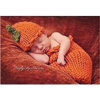 Zehui Halloween Pumpkinsニットかぎ針編み帽子Sleepingバッグ写真プロップ0 to 1月ベビー